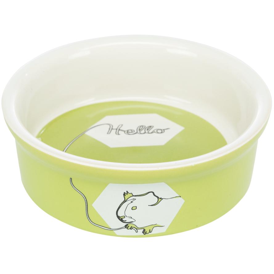 Keramiknapf für Meerschweinchen in limette