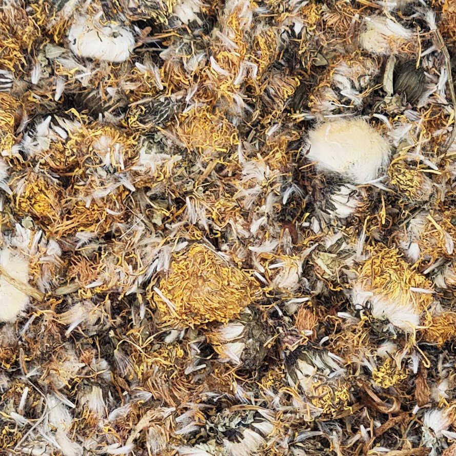 getrocknete Löwenzahnblüten