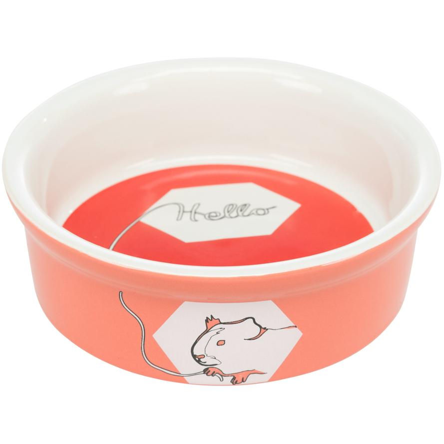 Keramiknapf für Meerschweinchen in koralle