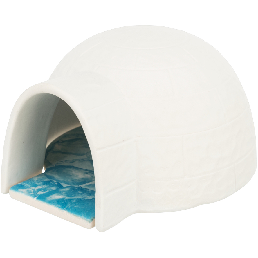 Hamsterhaus Iglu mit Kühlplatte