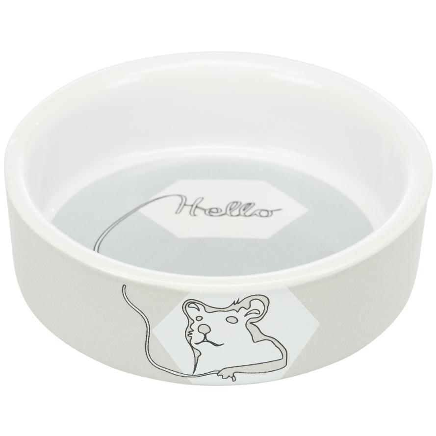Keramiknapf für Hamster in light grey