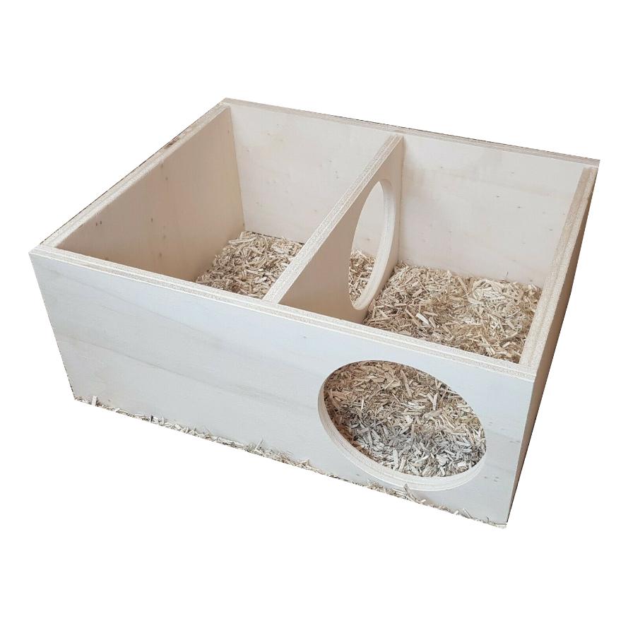 Mehrkammernhaus mit zwei Kammern für Hamster und kleine Nager
