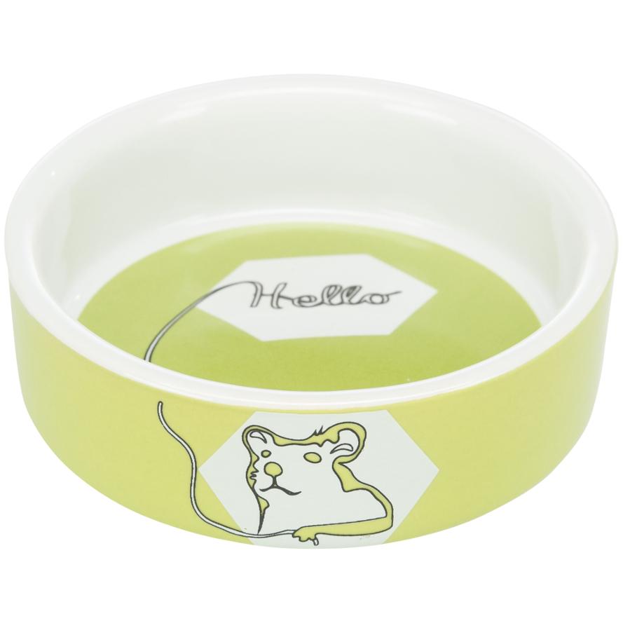 Keramiknapf für Hamster in limette