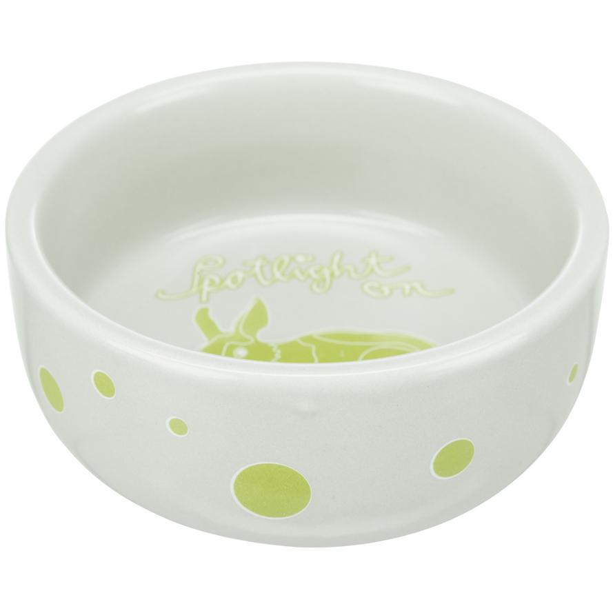 Keramiknapf für Kaninchen Spotlight in limette