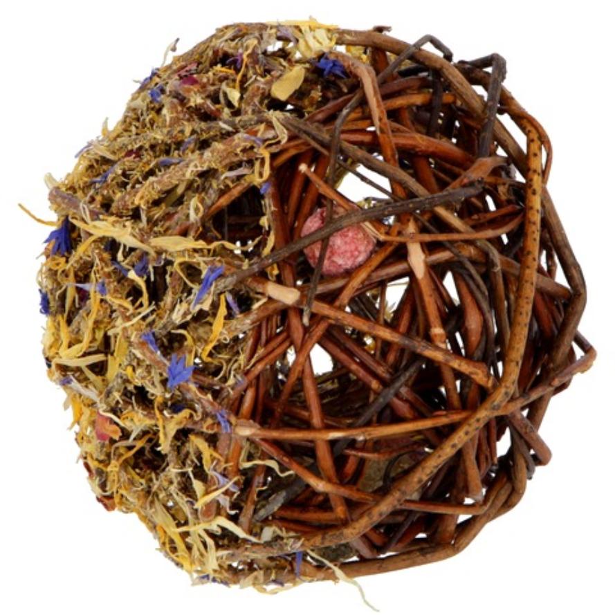 Weidenball mit Blüten für Kaninchen und Nager