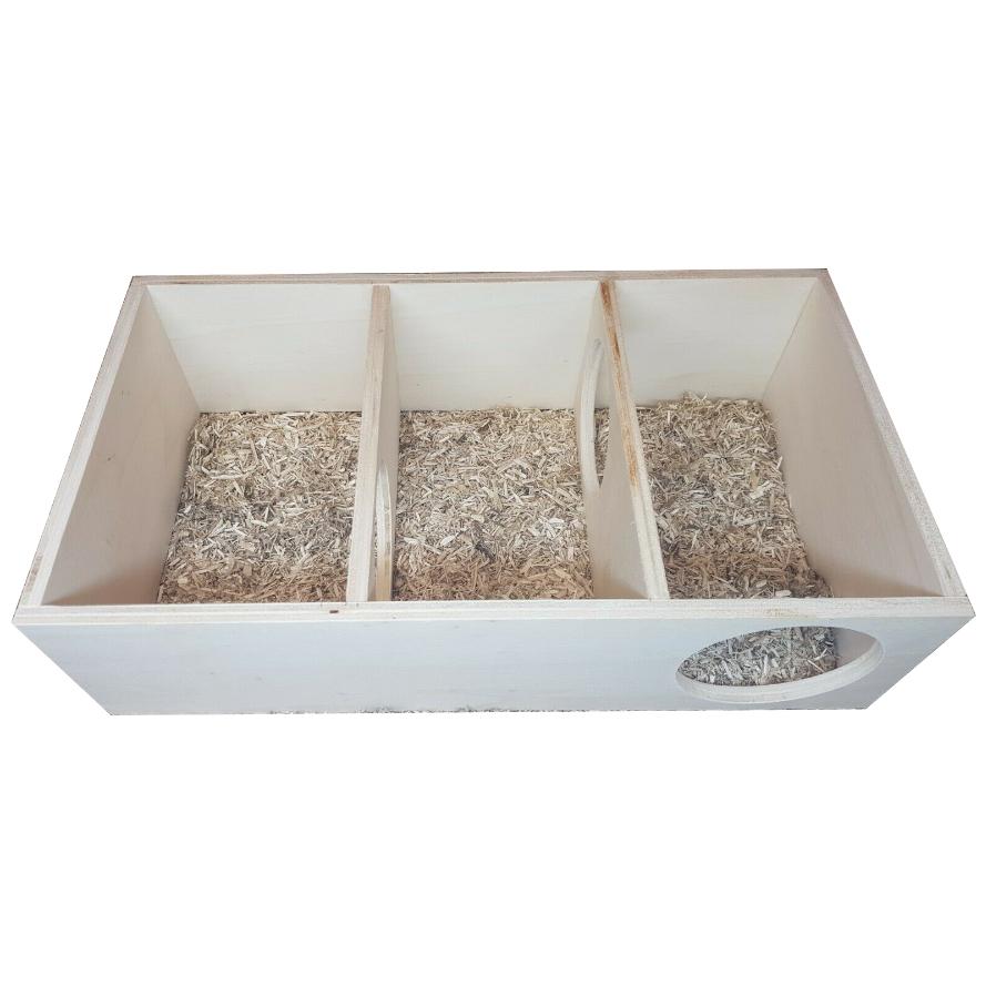 Mehrkammernhaus mit drei Kammern für Hamster und Nager