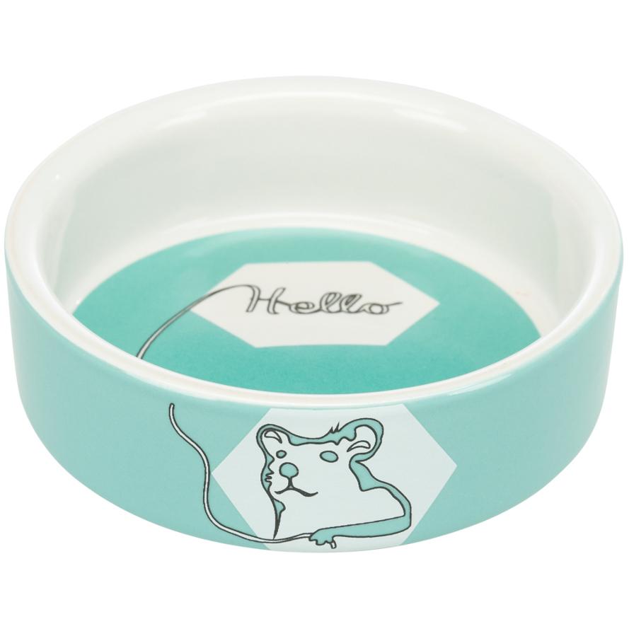 Keramiknapf für Hamster in mint