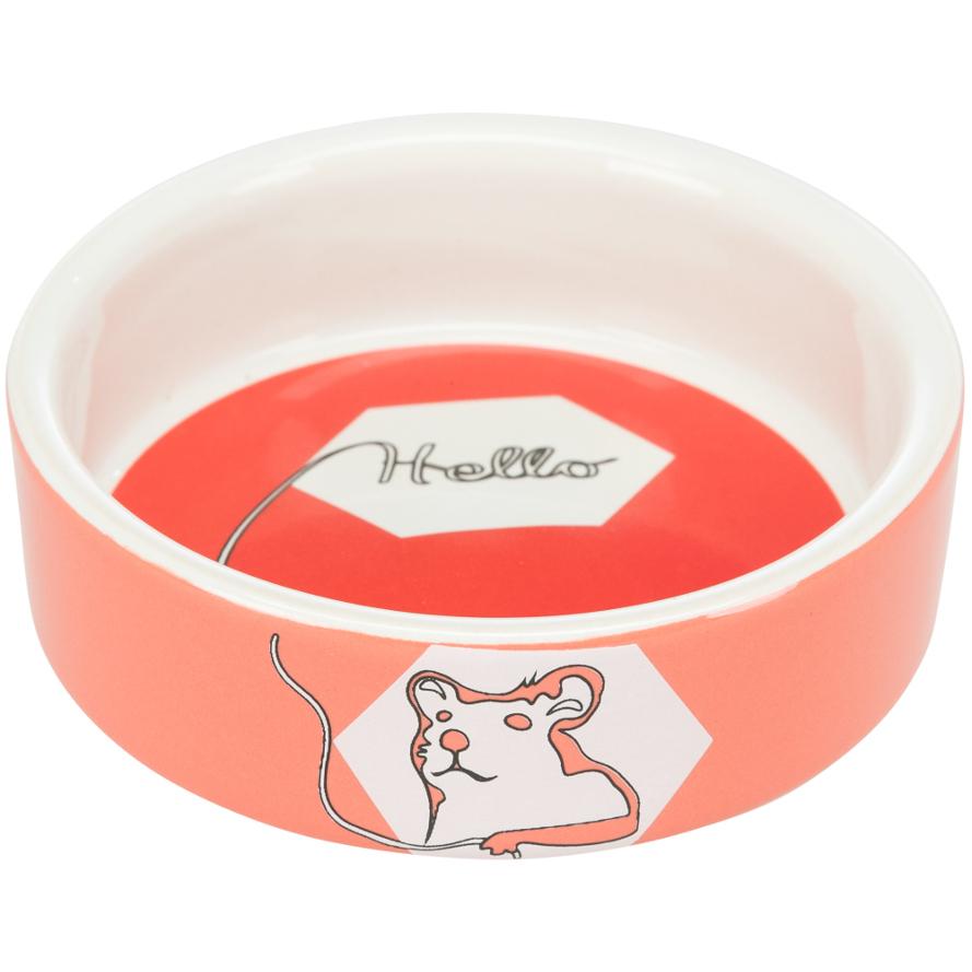 Keramiknapf für Hamster in koralle