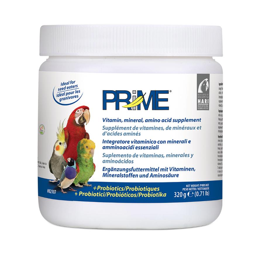 Prime Mineralstoffe und Vitamine für Sittiche und Papageien