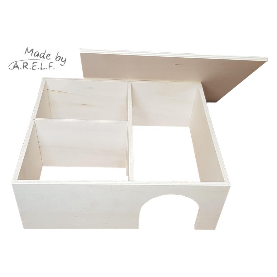 Mehrkammernhaus mit drei Kammern für Hamster und kleine Nager